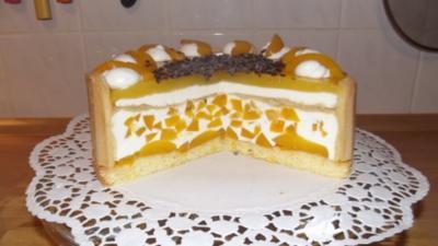 Pfirsich- Joghurt- Torte - Rezept