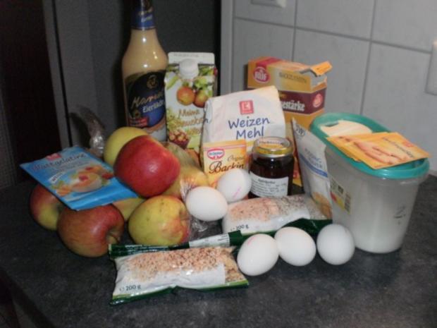 Apfel-Nuss-Torte mit Eierlikör - Rezept - Bild Nr. 3