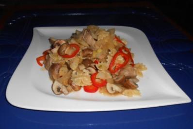 Nudel-Gemüse-Pfanne mit Schweinefilet - Rezept