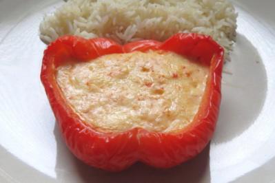 Kochen: Mit Käse gefüllte Paprikaschoten - Rezept