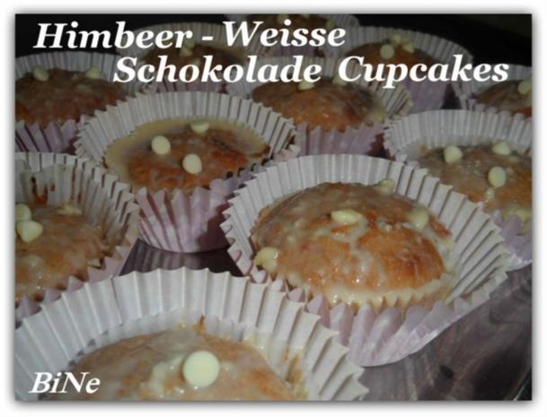 BiNe` S HIMBEER - WEISSE SCHOKOLADE CUPCAKES - Rezept - Bild Nr. 2