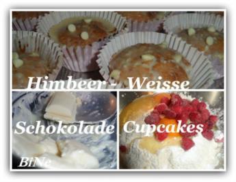 BiNe` S HIMBEER - WEISSE SCHOKOLADE CUPCAKES - Rezept