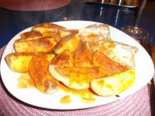 Fisch: Kabeljau mit karib. Kartoffelspalten - Rezept