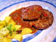 Hamburger mit Teufels-Soße - Rezept