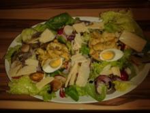 Putenstreifen gebraten auf Salatbeet - Rezept