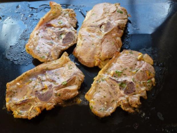 Schwarzwälder Bohnenpäckchen zu marinierten NT Lammkotelette - Rezept - Bild Nr. 5