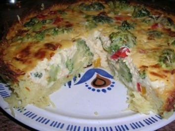 Brokkoli-Kartoffel-Quiche (vegetarische Küche) - Rezept