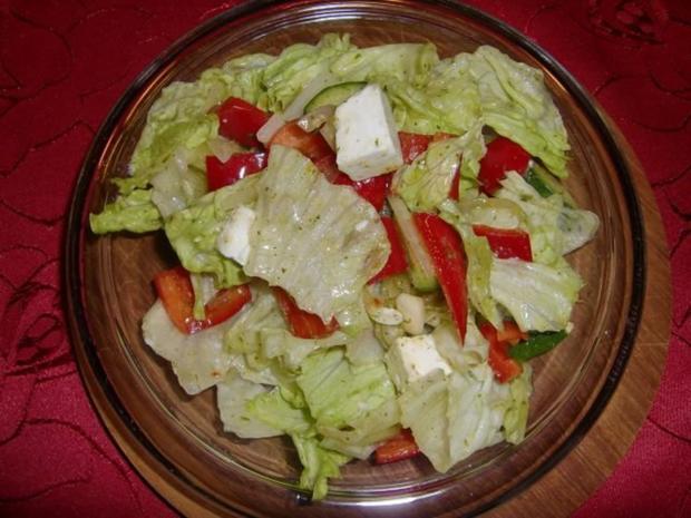 Griechischer salat mit paprika