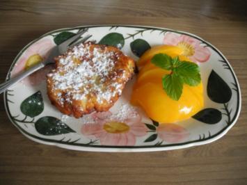 Vegan : Soja - Joghurt - Keulchen mit Pfirsich - Rezept