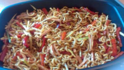 Nudelsalat nach chinesischer Art - Rezept