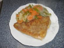 Fisch mit Rahmgemüse - Rezept