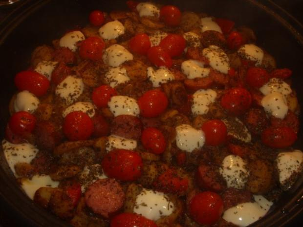 Kartoffel-Cabanossi-Pfanne - Rezept