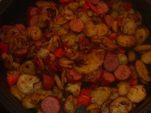 Kartoffel-Cabanossi-Pfanne - Rezept - Bild Nr. 3