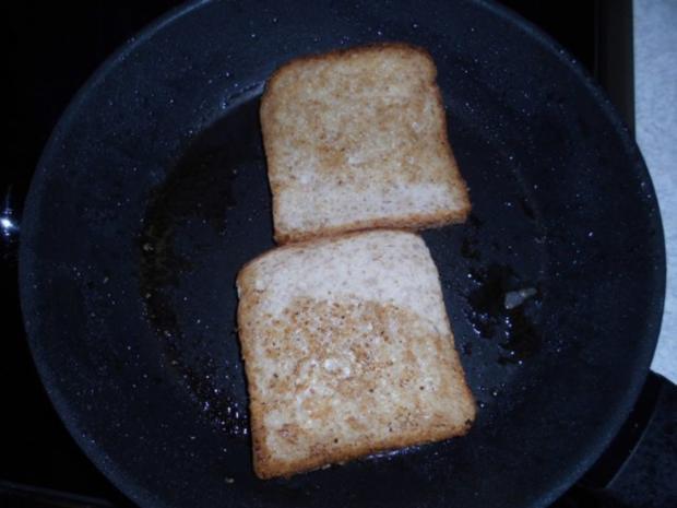 Pikanter Toast mit pochierten Eiern - Rezept - Bild Nr. 5