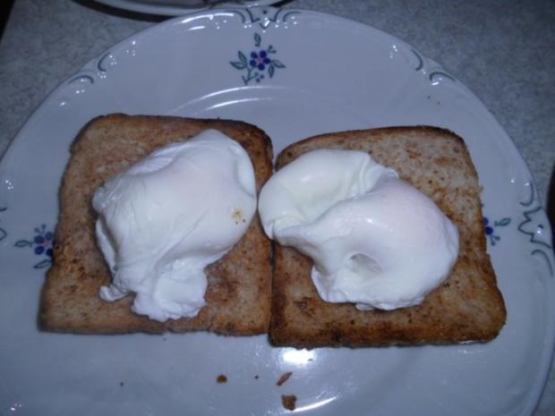 Pikanter Toast mit pochierten Eiern - Rezept - Bild Nr. 11