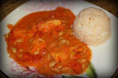 Rezept: Fisch in cremiger Tomatensauce