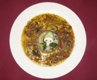 Pilzvariation in Weißwein-Soße mit Gewürzreis - Weißwein-Reis-Fantasie - Rezept