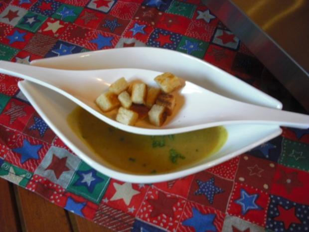 Linsen-Kastanien-Suppe mit Curry - Rezept - Bild Nr. 4