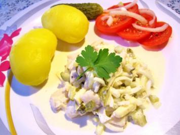 Salat vom Sahnehering ... - Rezept