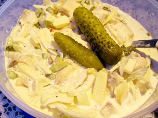 Salat vom Sahnehering ... - Rezept - Bild Nr. 6