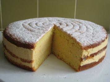 Khaki - Biskuit - Torte - Rezept