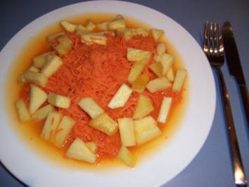 Rezept: Karottensalat SUPER FRUCHTIG!