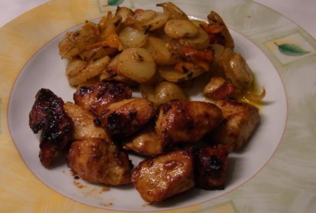 "Kartoffeln mit Süß Mariniertem Hähnchen ""Amazonas Art"" - Rezept - Bild Nr. 6"