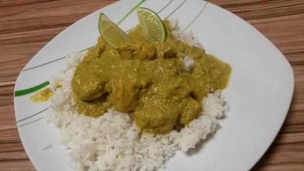Korma-Curry mit Reis - Rezept