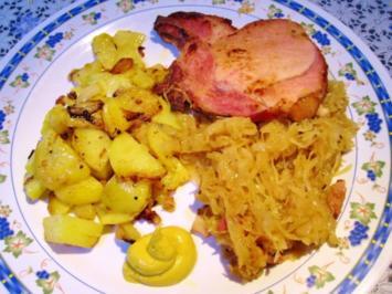 Kasseler Koteletts mit Sauerkraut - Rezept
