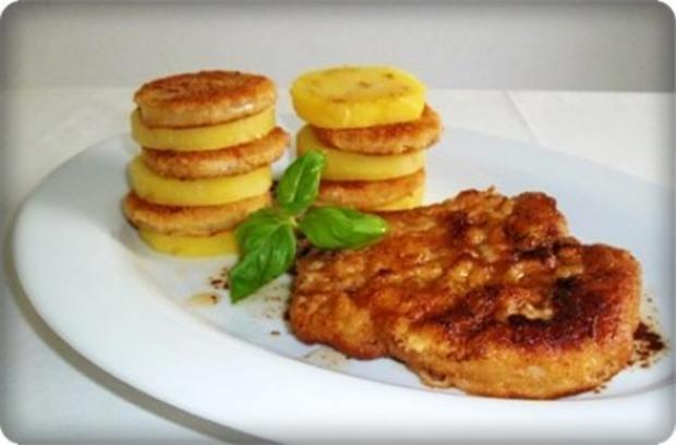 Zwiebel – Kartoffelscheiben mit Schweinekoteletts. - Rezept - Bild Nr. 2
