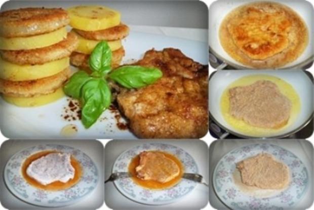 Zwiebel – Kartoffelscheiben mit Schweinekoteletts. - Rezept - Bild Nr. 12