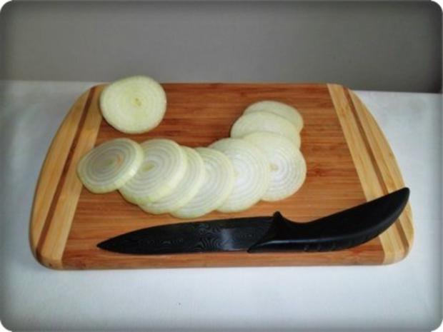 Zwiebel – Kartoffelscheiben mit Schweinekoteletts. - Rezept - Bild Nr. 15