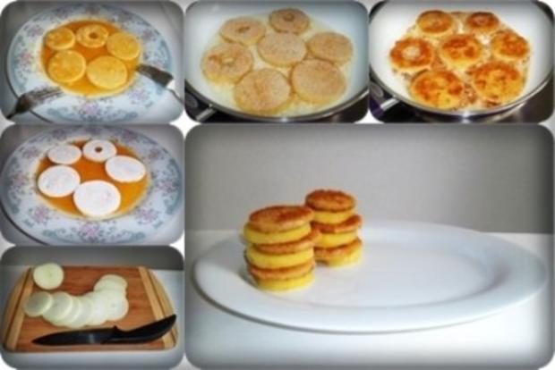 Zwiebel – Kartoffelscheiben mit Schweinekoteletts. - Rezept - Bild Nr. 21