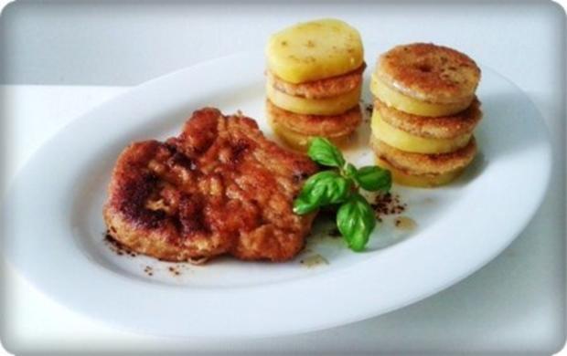 Zwiebel – Kartoffelscheiben mit Schweinekoteletts. - Rezept - Bild Nr. 25