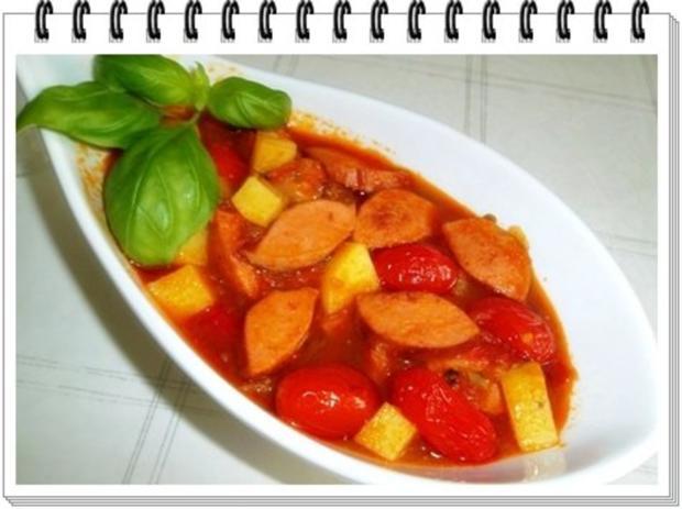 Pikantes Wurstgulasch mit Kartoffeln - Rezept - Bild Nr. 2