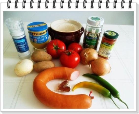 Pikantes Wurstgulasch mit Kartoffeln - Rezept - Bild Nr. 4
