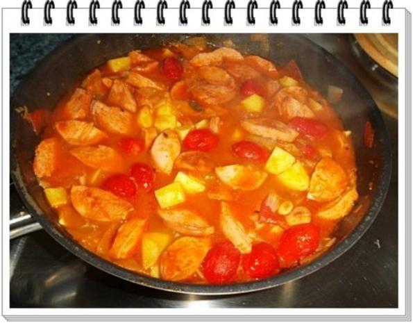 Pikantes Wurstgulasch mit Kartoffeln - Rezept - Bild Nr. 18