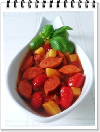 Pikantes Wurstgulasch mit Kartoffeln - Rezept - Bild Nr. 20