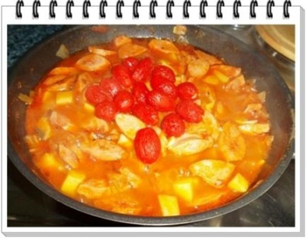 Pikantes Wurstgulasch mit Kartoffeln - Rezept - Bild Nr. 17