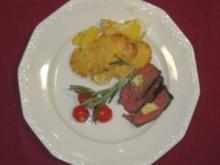 Rinderfilet mit Rosmarin-Kartoffel-Gratin - Rezept