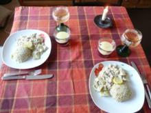 Vegan : Geschmorte Gurken in Mandelsahne - Rezept