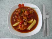 Vegan : Buntes Soja - Paprika Gulasch - Rezept
