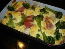 Hähnchen-Brokkoli-Auflauf mit Schinken - Rezept