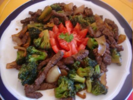 Rinderfilet mit Brokkoli - Rezept
