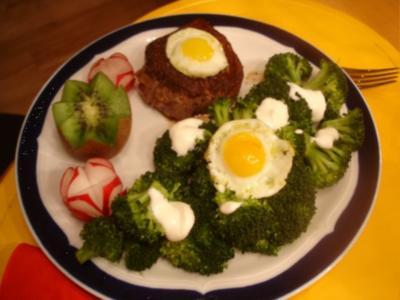 Rinderfiletsteak mit Brokkoli - Rezept