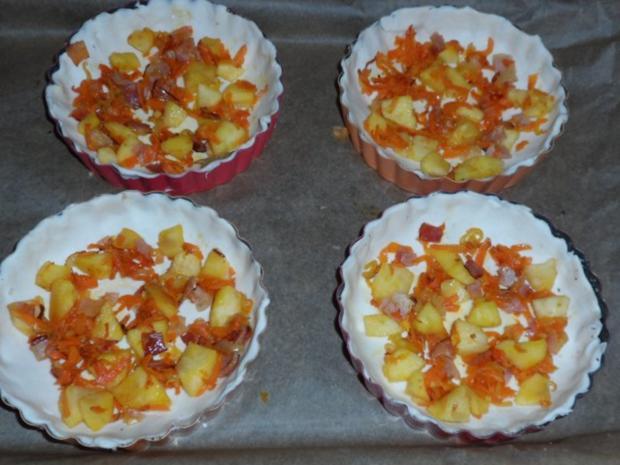 Vorspeise/Zwischengericht: Blätterteig-Tartelettes mit Camembert, Schinken & Apfel - Rezept - Bild Nr. 9
