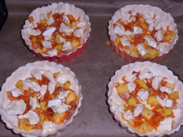 Vorspeise/Zwischengericht: Blätterteig-Tartelettes mit Camembert, Schinken & Apfel - Rezept - Bild Nr. 10