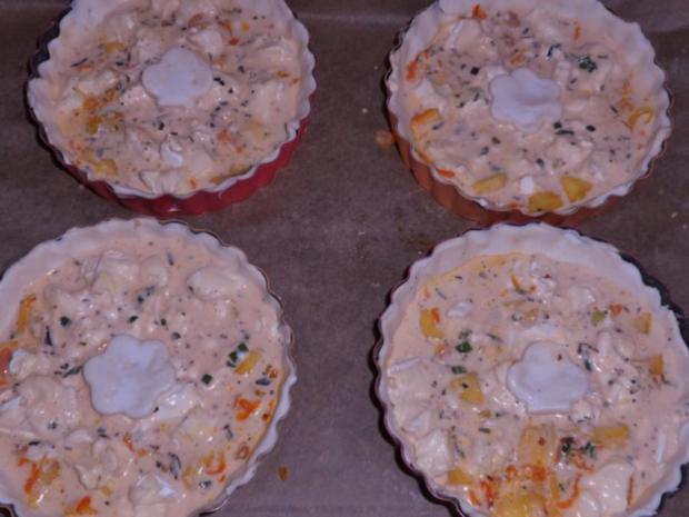 Vorspeise/Zwischengericht: Blätterteig-Tartelettes mit Camembert, Schinken & Apfel - Rezept - Bild Nr. 11