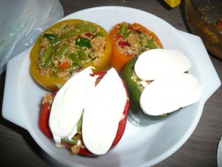 Gefüllte Paprika mit Cous- Cous - Rezept