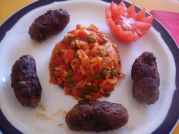 Cevapcici mit Balkanreis - Rezept